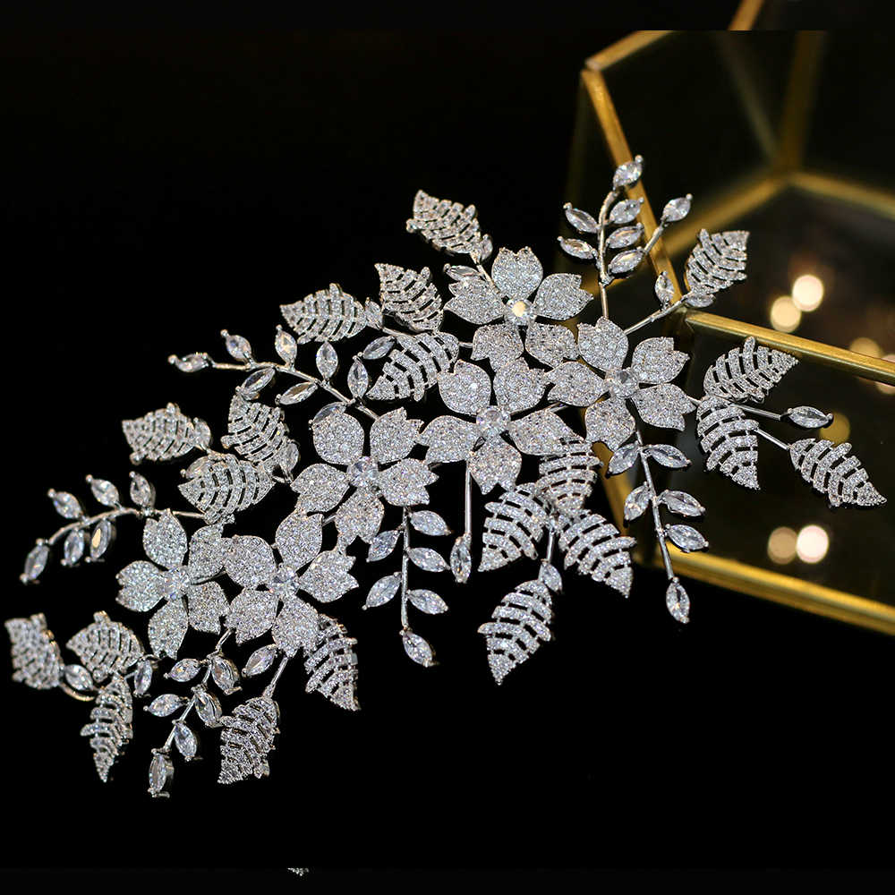 Bridal Wedding Jewelry Hair Accessories Zirconia Jewelry Ladies Headdress Wedding Hair Clips Party Hair Accessories Crown