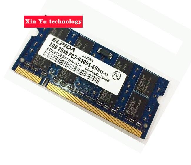 Lebenslange garantie Für Elpida DDR2 2 GB 4 GB 800 MHz PC2-6400S Original authentischen ddr 2 2G notebook speicher Laptop RAM 200PIN SODIMM