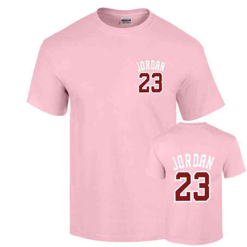 5e3edf6a2992 ... 23 t shirt 2017 Fashion Printed 100% Cotton short sleeve couple t shirt  design jordan ...