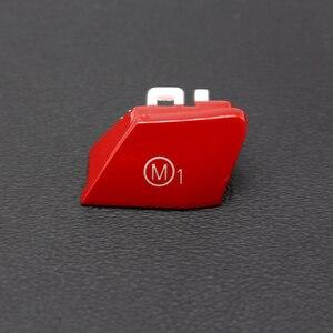 Image 4 - Cubierta de repuesto para volante de coche, pieza personalizada, color rojo, botón de interruptor, para BMW Serie M, M2, M3, M4, F80, F82, F83, GTS, 3,0 T, 2 uds.