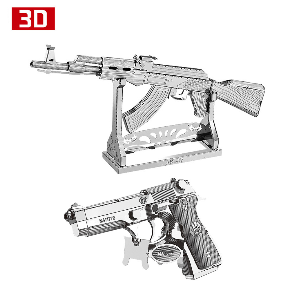 Aliexpress.com : Buy 2pcs 3D Metal Nano Puzzle AK47