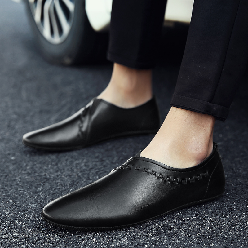 Men Loafers shoes Genuine   Leather   Casual Shoes outdoor Fashion Slip On Driving Shoes Breathable Moccasins   Suede   Loafers shoes L5