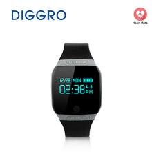 Diggro E07S смарт-браслет IP67 Водонепроницаемый Одежда заплыва Смарт часы здоровья активности Фитнес трекер для iOS и Android браслет