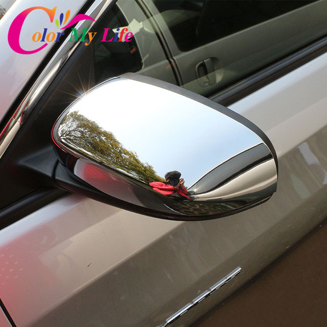 2 Pcs/Ser Car ABS Chrome Rearview Mirror Protection Cover Rear View Mirror Sticker for Jeep Compass 2017 2018 Accessories