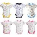2017 Bodysuits Do Bebê Menino e Menina Roupas Macacão Infantil Verão Terno Do Corpo para Recém-nascidos de Manga curta Ternos Do Corpo Do Bebê Traje