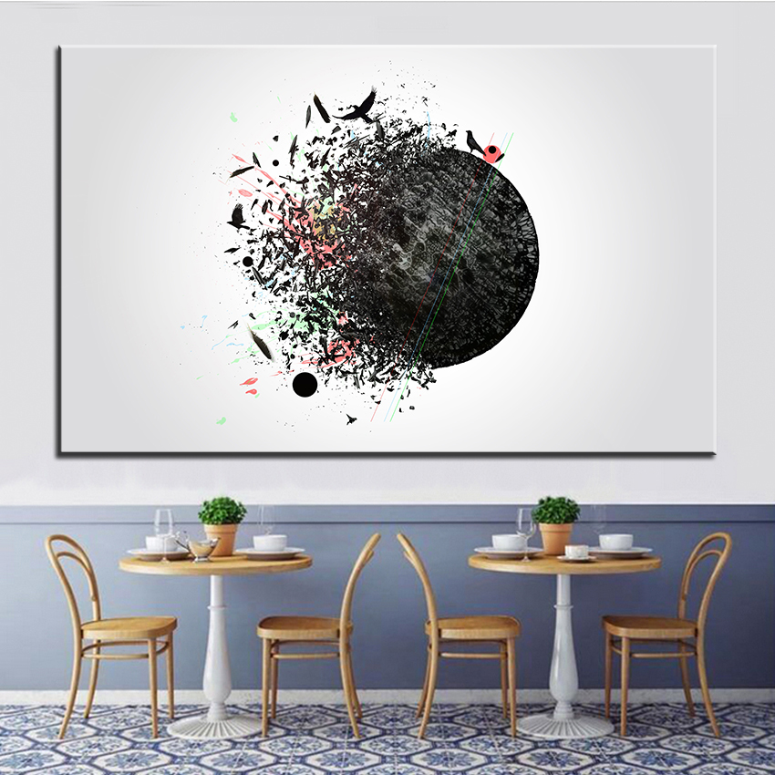 Large Size Printing Oil Painting Freedom Wall Painting