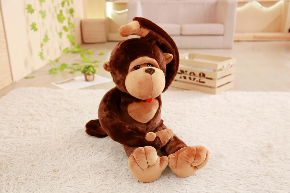 Hot 1PC large Monkey Gibbon Orangutan Stuffed Doll Plush Toys Baby Sleeping Appease Animal Gorilla Kids Birthday Christmas Gift in Stuffed Plush Animals from Toys Hobbies