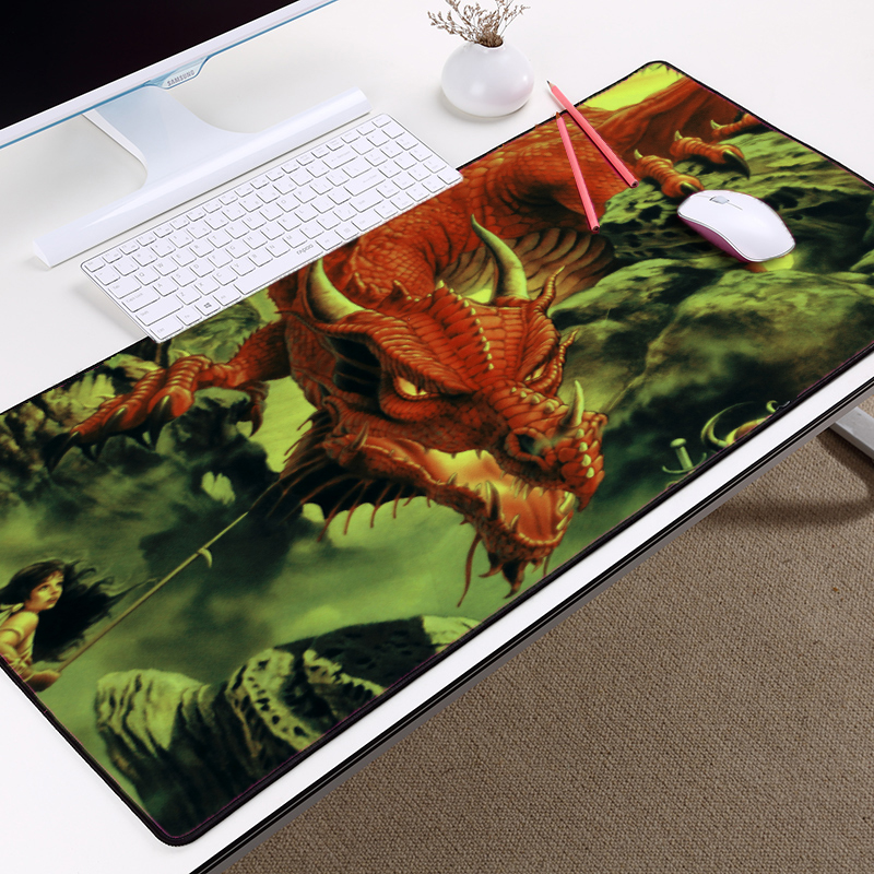Congsipad Big Size Creative Handsome Dragon King Gaming Mousepad Huge Dragon Monster Game Mice Mat Pad Pc Table Desk Pad Mouse