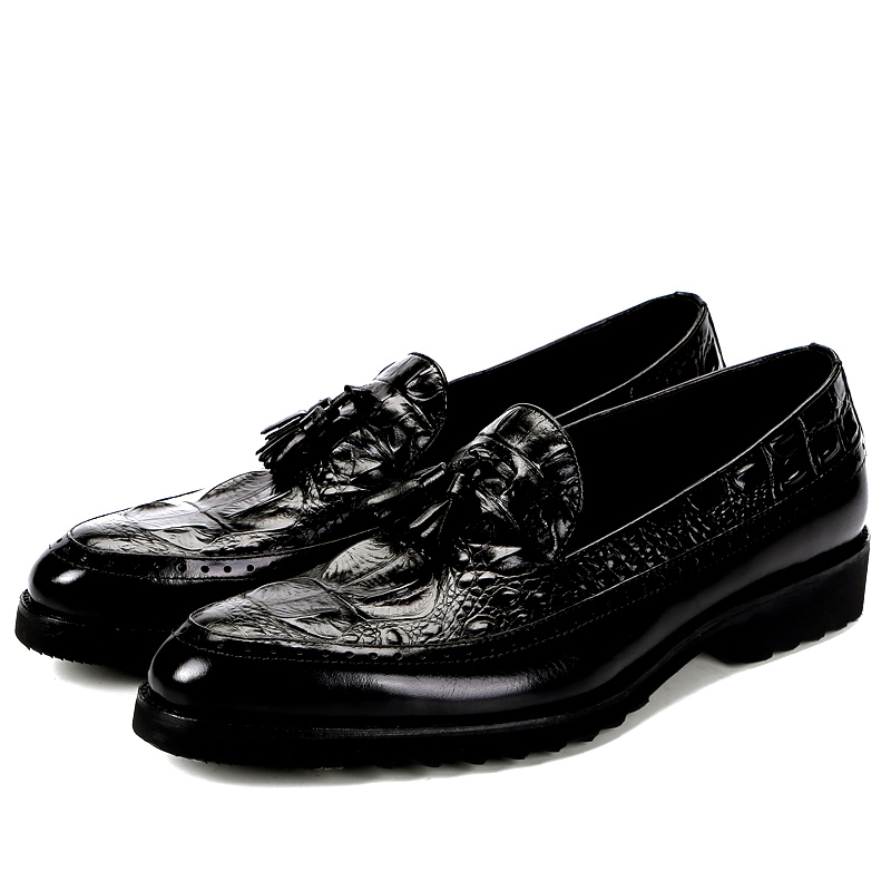 Men Formal Oxford Shoes Crocodile Pattern con Tessel Breathable Luxury Men Shoes Causal Genuine Leather Wedding Shoes Plus SizeMen Formal Oxford Shoes Crocodile Pattern con Tessel Breathable Luxury Men Shoes Causal Genuine Leather Wedding Shoes Plus Size