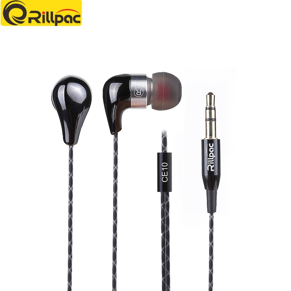 Rillpac CE10 Noise Isolating In-Ear Stereo Earphones Ceramic Metal Construction HiFi Earphone for mobile phone Brand Earphones