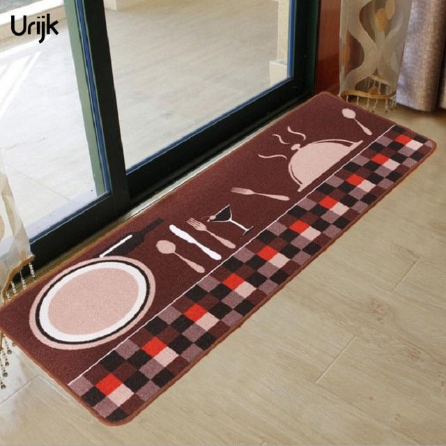 Urijk 1 STÜCK Kaffee Farbe Polyester Boden Teppich für Küche Bad ...