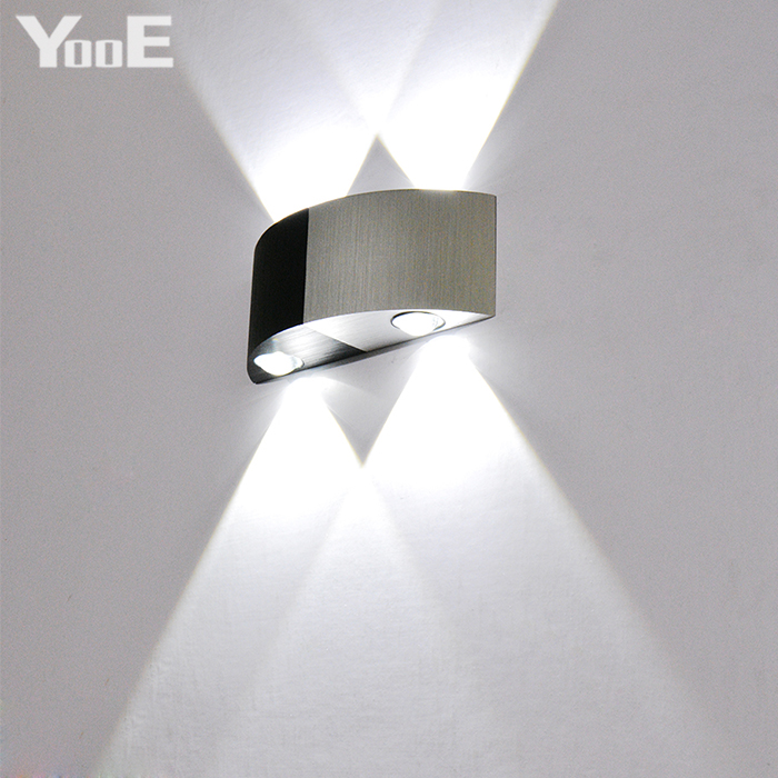 YooE Indoor LED Wall Lamp 4W  AC110V/220V Bedroom Decorate Half-Round Wall Sconce Cold / Warm White LED Wall LightYooE Indoor LED Wall Lamp 4W  AC110V/220V Bedroom Decorate Half-Round Wall Sconce Cold / Warm White LED Wall Light