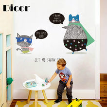 DICOR Wall Stickers For Kids Rooms Home Decor DIY Wall Decal Kindergarten Study Rooms Wallpaper Decal Poster Removable QTM372 american style boxing gloves wall decor removable wall stickers diy wallpaper for kids rooms living room wall decal home decor