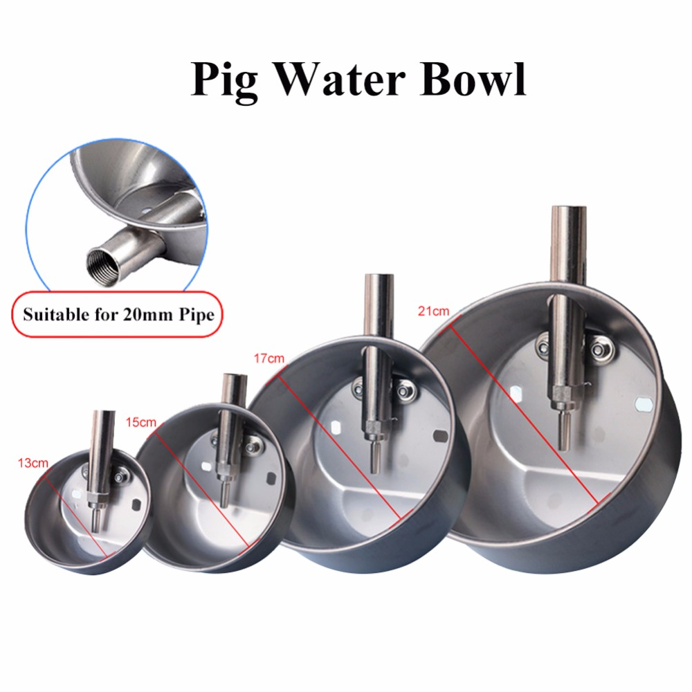 304 Stainless Steel Pig Drinking Water Bowl Four Sizes Piglets Automatic Drinking Fountains Pig Feeder Equipment Кормушка