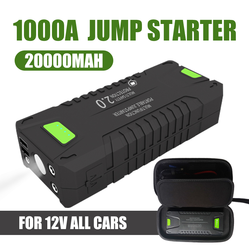 Car Jump Starter 20000mAh 1000A Vehicle Emergency Battery Portable 12V External Car Battery Booster Multi-function Power Bank(China)