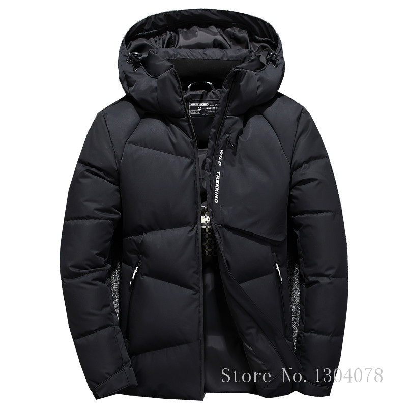 IN-YESON Brand Light Down Men Warm Thermal Windproof Fashion Casual Hooded Detachable Winter Mens Down Jacket Overcoat