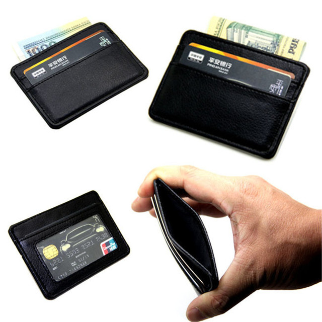 official photos 2ec0e ba298 US $4.48 |Card Holder slim Bank Credit Card ID Card Holder case bag Wallet  Holder money-in Card & ID Holders from Luggage & Bags on Aliexpress.com |  ...