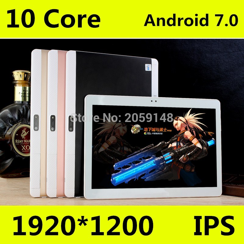 4G LTE  10 Inch Tablet PC Deca Core Android 7.0 4GB RAM 128GB ROM Dual SIM Cards 1920x1200 IPS GPS Bluetooth Tablets 10 10.1
