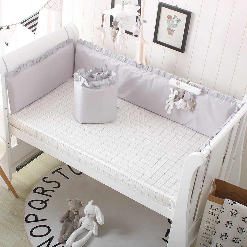 Princesa Rosa 100% juego de cama de algodón para bebés recién nacidos juego de cama para niñas niños lavable ropa de cama 4 paragolpes + 1 sábana