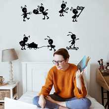 Fashionable Animal Ants Wall Stickers Modern Interior Art Decoration For Childrens Room