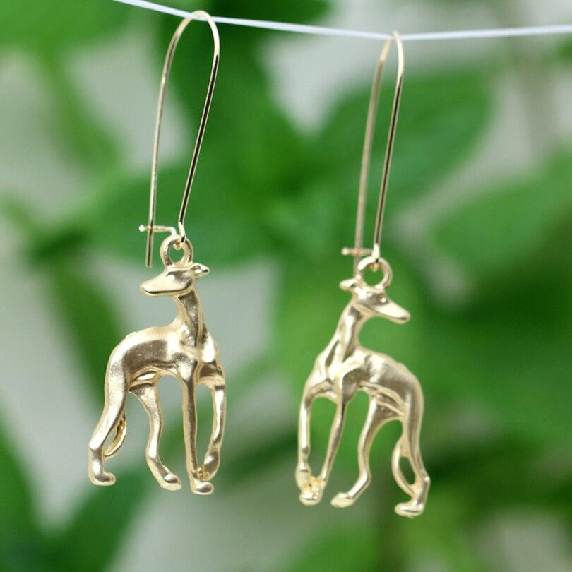 Italian Greyhound Earring Metal Grey hound Dangle Earring Dog Memorial Gift