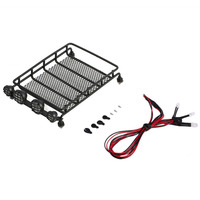 Practical And Durable ShortCourse Rally Car Crawler Luggage Tray Roof Luggage Rack LED Light Cargo Luggage