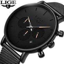 LIGE nouvelle Date daffaires hommes montres haut de gamme marque de luxe étanche montre de Sport hommes Ultra mince cadran montre à Quartz décontracté Reloj Hombre
