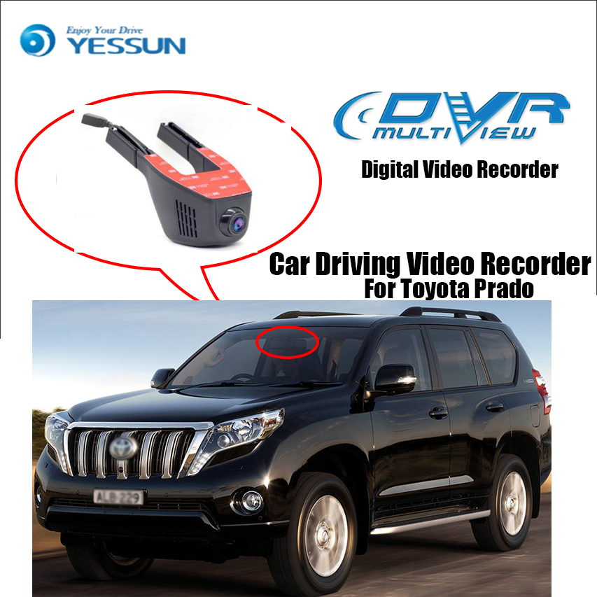 YESSUM For Toyota Prado / Novatek 96658 Car Mini DVR Driving Video Recorder Control Wifi Camera Black Box / Registrator Dash Cam for kia carnival car driving video recorder dvr mini control app wifi camera black box registrator dash cam original style page 4
