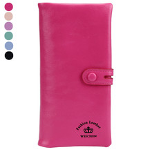 New Fashion Women PU Leather Wallet Small Fresh Wallet Mobile Phone Bag Female Small Change Clasp Purse Money Card Coin Holder