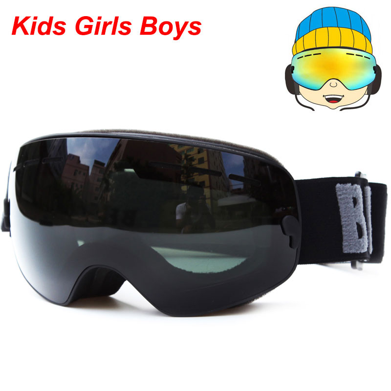 60af9178ea UV400 Anti-fog Snowboard goggles Kids Double Lens Ski Snow Glasses Skiing  Mask Winter Girls