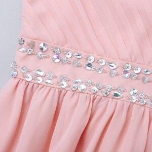 Image 5 - Iiniim Çocuk Kız Prenses Elbise Omuz Askıları Parlak Pul Rhinestones Şifon Elbise Yaz Düğün doğum günü partisi elbisesi