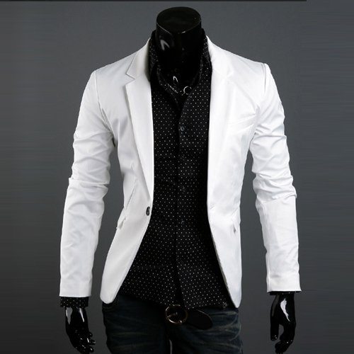 NWT Brand New Men's Casual Slim Fit Sexy One Button Dress Suit ...