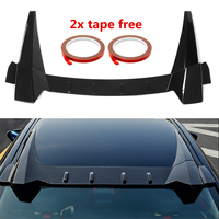 Car Rear Window Roof Spoiler lips Visor R Style ABS Plastic Tail Wing Fits for Honda for Civic 10th 4DR Sedan 2016 2018
