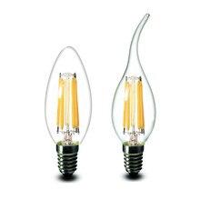 shenmeile 1pcs E14 C35 B10 2w 4w 6w Flame LED Filament Bulb lamp light 220v 230v 240v AC CE RoHs