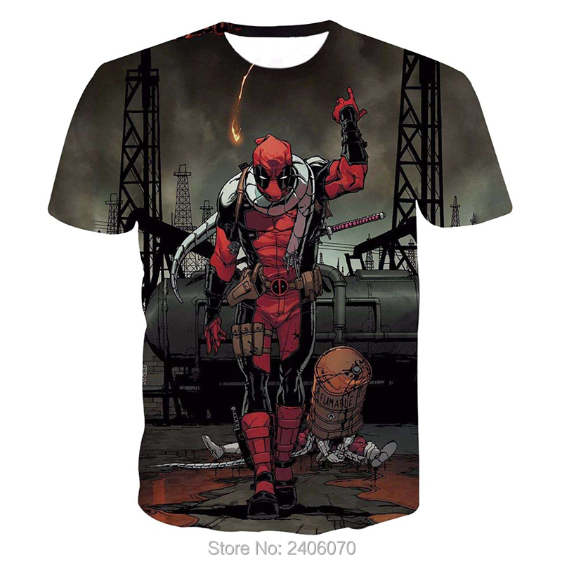 Teenager boy t shirt children summer kids clothes deadpool 3d t-shirt teens boy tees tops 3d sweatshirt superhero costume-5