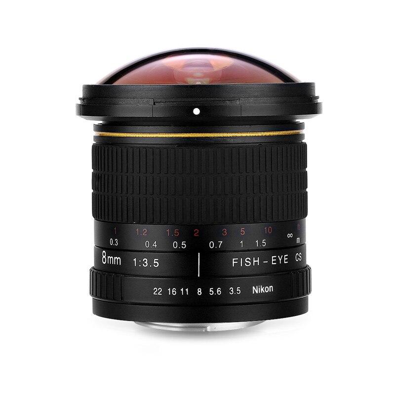 Objectif de caméra circulaire asphérique 8mm F/3.5 objectif Fisheye Ultra large pour appareils photo Canon DSLR 550D 650D 750D 77D 80D 1100D