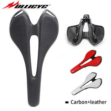 Ullicyc 2019 Top Newest leather + carbon fibre top-level mountain bike full saddle/ road bicycle saddle/MTB or Road parts