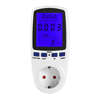 EU Plug 230V 50Hz Backlight LCD Digital Display Watt Current Voltage Electricity Monitor Analyzer Power Meter