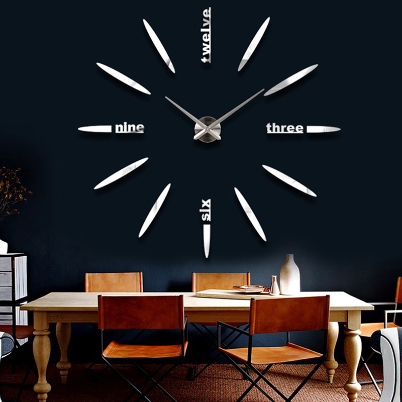 Modern Frameless Wall Clock Watches Sticker Hours Diy Home Office Decor In Clocks From Garden On Aliexpress Alibaba Group