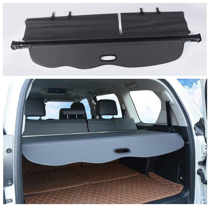 Beige Rear Trunk Shade Security Cargo Cover for Toyota LC Prado FJ150 2010-2019