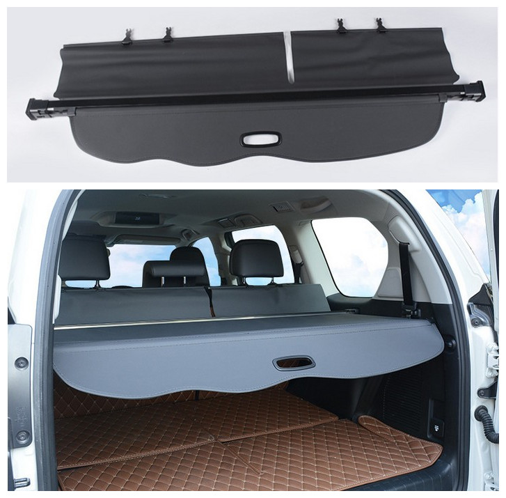 For TOYOTA Land Cruiser PRADO <font><b>150</b></font> 2010-2019 Rear Trunk Cargo Cover Security Shield Screen shade High Qualit Car Accessories image