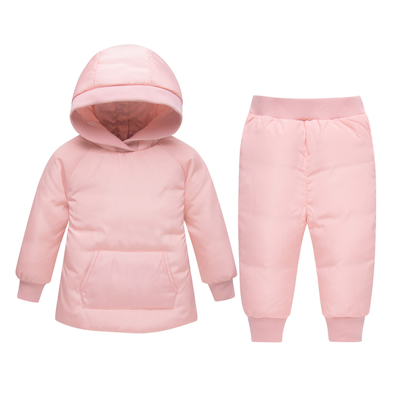 2018 Winter Down Jacket Set Baby Girl Clothes Children Clothing Sets Boys Parka Hooded Coat + Pants 2pcs Kids Snow Wear children winter jacket for kids girl silver boys hooded coat baby clothing outwear kid parka jackets snow wear meisjes winterjas