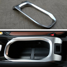 Car Styling ABS Chrome Cup Holder Trim Interior Protective Decorative Accessories Cover For Honda HRV HR-V Vezel 2014 2015 LHD