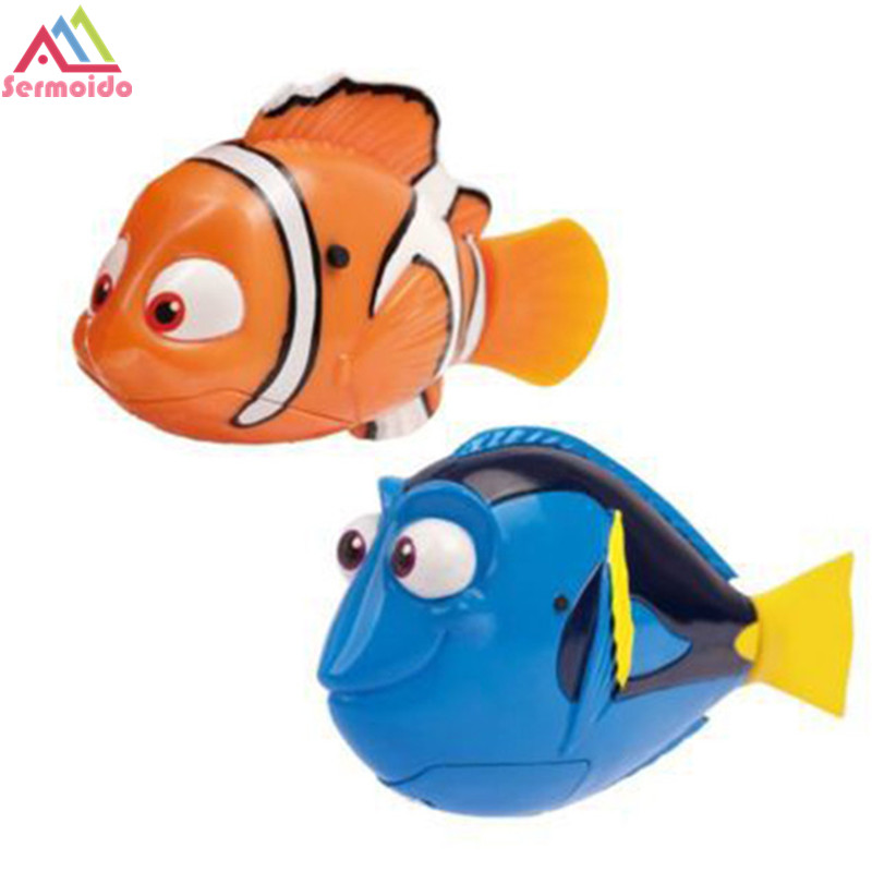 22e1cbd05ad sermoido 2PCS LOT Dory - Nemo Swimming Robot Fish Activated in Water  Magical Electronic Toy Kids Children Gift DBP238