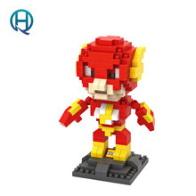 Mini Nano Blocks Super Heroes LOZ Building BlocksThe Flash Action Figure Diamond Blocks Compatible Legoelieds 9453