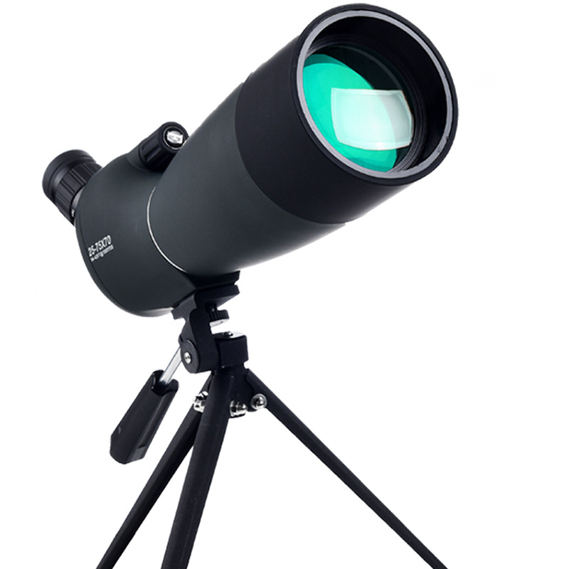 Bird Mirror Telescope Single Barrel Zoom 25-75x70 High-power High-definition Low-light Night Vision Outdoor Glasses With Clip celestron long vision single barrel telescope bird watching mirror high definition double speed times nitrogen filled waterpro