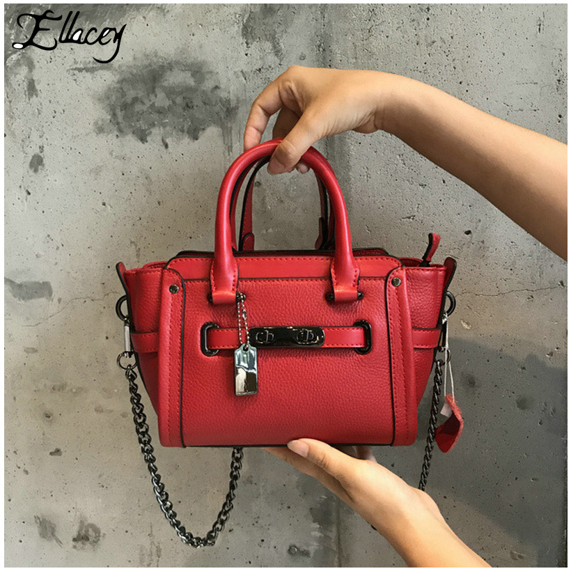 b49fd6fefa New 2017 Brand New Cow Leather Handbags Women Luxury Vintage Trapeze  Platinum Bags Designer Genuine Leather Shoulder Chain Bags