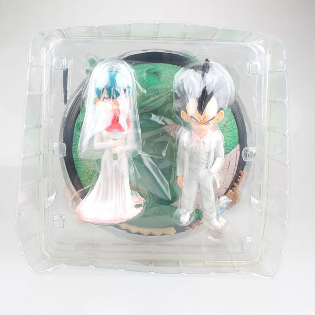 Anime Dragon Ball Z Vegeta & Bulma Wedding with Little Trunks PVC Action Figure Kids Gifts no retail box (Chinese Version) 5