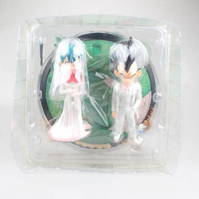 Anime Dragon Ball Z Vegeta & Bulma Wedding with Little Trunks PVC Action Figure Kids Gifts no retail box (Chinese Version) 5