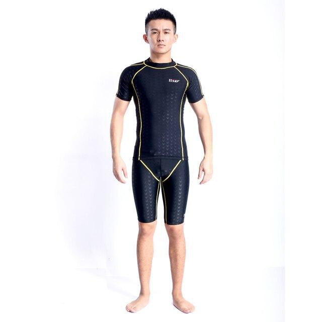 22f6638f583bd 2019 Rushed New Men Sport Gym Unitard One Piece Swimsuit Man Body Suit  Bodysuit Wrestling Leotard Beach Surf Plus Size Swimwear